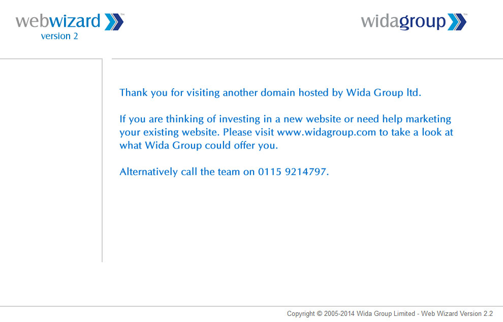 Another domain hosted by Wida Group Limited